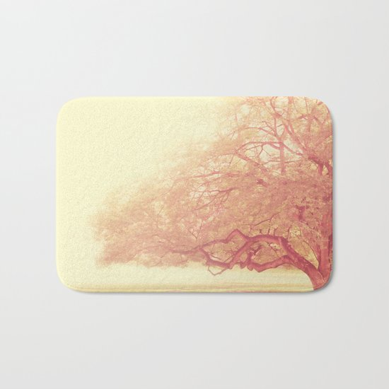 tree. That Was Just a Dream. pink tree photograph Bath Mat