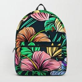 Retro Art Floral Pattern Backpack