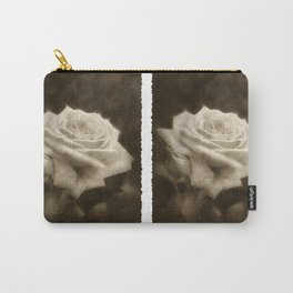 Pink Roses in Anzures 3 Antiqued Carry-All Pouch