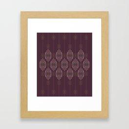 Vintage Burgundy vertical Framed Art Print