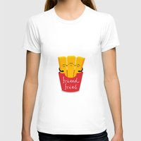 fries T-shirts featuring Friend Fries by Wai Theng