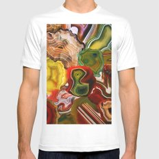 Slivers of the Past, Earth's core MEDIUM White Mens Fitted Tee