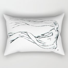 With the Wind Rectangular Pillow