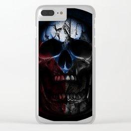CZ skull flag II Clear iPhone Case
