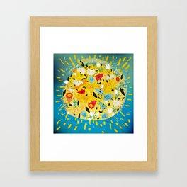 Lot of animals on the sun Framed Art Print