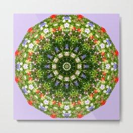 Nature Flower Mandala, Wildflowers, Floral mandala-style Metal Print
