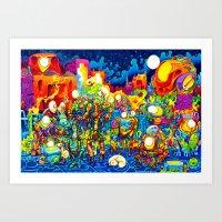 Chatbots Art Print