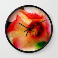 hibiscus Wall Clocks featuring Hibiscus by Christine Belanger