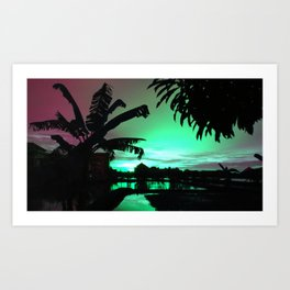Sunset (cool) Art Print