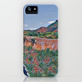 China Great Wall Artistic Illustration Chapped Paint Style iPhone Case
