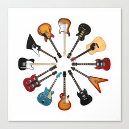 Guitar Circle Canvas Print