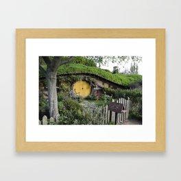 Hobbit Hole in Hobbiton, New Zealand Framed Art Print