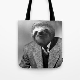 Gentleman Sloth with Striped Tie Tote Bag