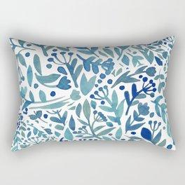 Watercolor blue plants Rectangular Pillow