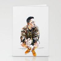 kendrick lamar Stationery Cards featuring Kendrick Lamar by Aleksandra Stanglewicz