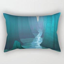 Blue Canyon River Rectangular Pillow