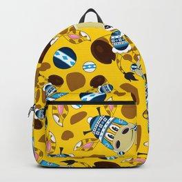 Cute Cartoon Bobble Hat Giraffe Pattern Backpack