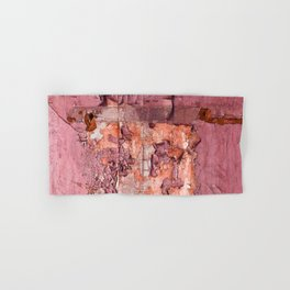 Vintage Cracked Wall Paint in Smoky Rose Pink Hues Hand & Bath Towel