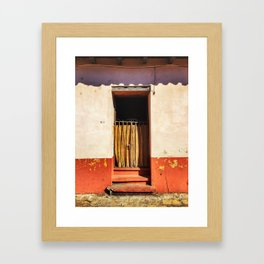 Door, Orange (San Cristóbal de las Casas, Chiapas, Mexico) Framed Art Print