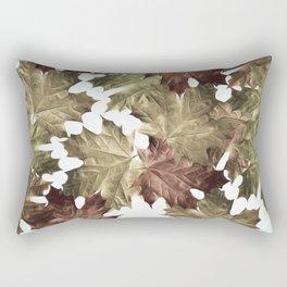 Faded Autumn Leaves Rectangular Pillow