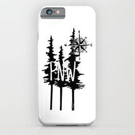 PNW Trees & Compass iPhone Case
