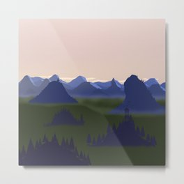 Sunrise at the mountains Metal Print
