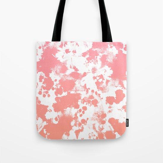 Breah - ombre peach pastel pink glow gender neutral baby nursery office decor Tote Bag