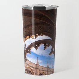 Cloisters of Jeronimos Monastery in Lisbon, Portugal Travel Mug