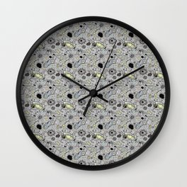 """""""Cells and bacteria's party"""" Wall Clock"""