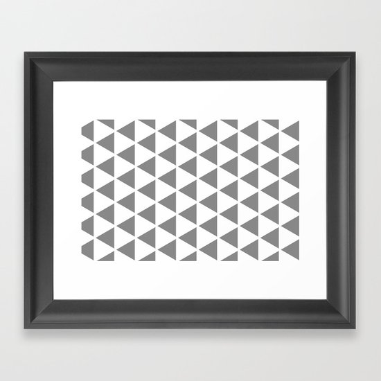 Sleyer Grey on White Pattern Framed Art Print