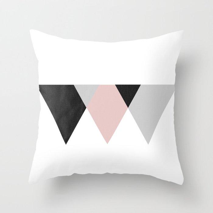 TTTRIANGLES Throw Pillow