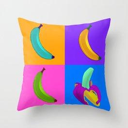 Andy's Bananas Throw Pillow