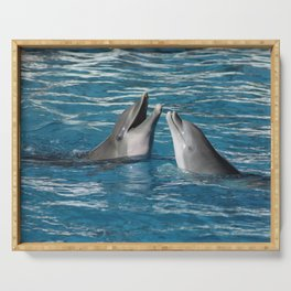 Couple of dolphins playing Serving Tray