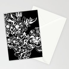 Cabbage Roses - Black Stationery Cards