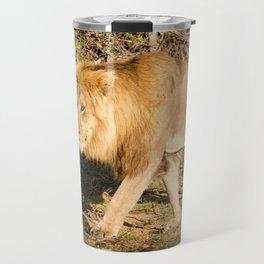 Male African Lion Travel Mug