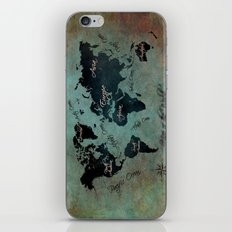 World Map text iPhone & iPod Skin