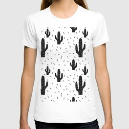 Cactuses abstract modern print simple T-shirt