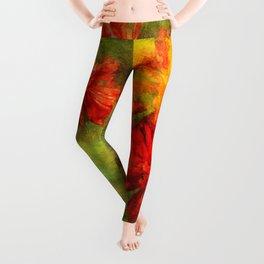 Poppy ~ Perennial Flower ~ Ginkelmier Inspired Leggings