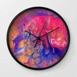 AcrylicFlow #1102 - Sunset Flow Wall Clock