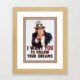 My Uncle Sam Framed Art Print
