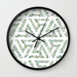Sea glass - green triskelion Wall Clock