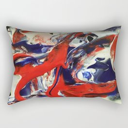 Blue, Orange, & White Rectangular Pillow