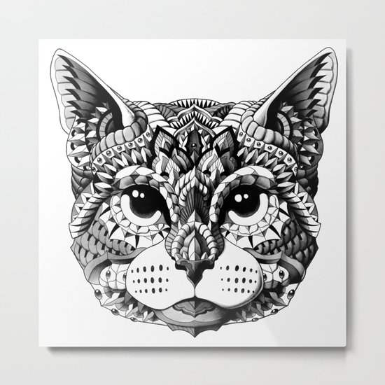 Cat Head Metal Print