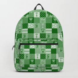 Jungle FriendsShades of Green Cheater Quilt Backpack