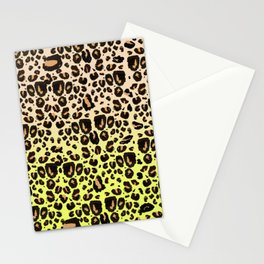 Neon leopard Stationery Cards