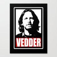 eddie vedder Canvas Prints featuring Eddie Vedder by Darkside-Shirts