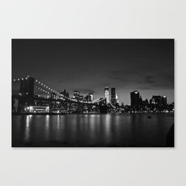 Brooklyn Bridge and the Manhattan Skyline at Dusk Canvas Print