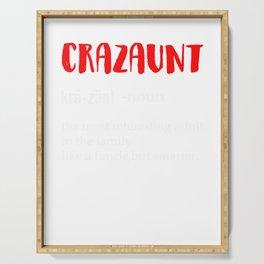 Crazaunt Crazy Aunt Womens Graphic Serving Tray