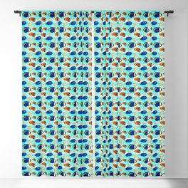 Colourful Tropical Reef Fish Pattern Blackout Curtain