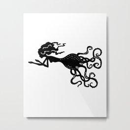 Octopus Mermaid Metal Print